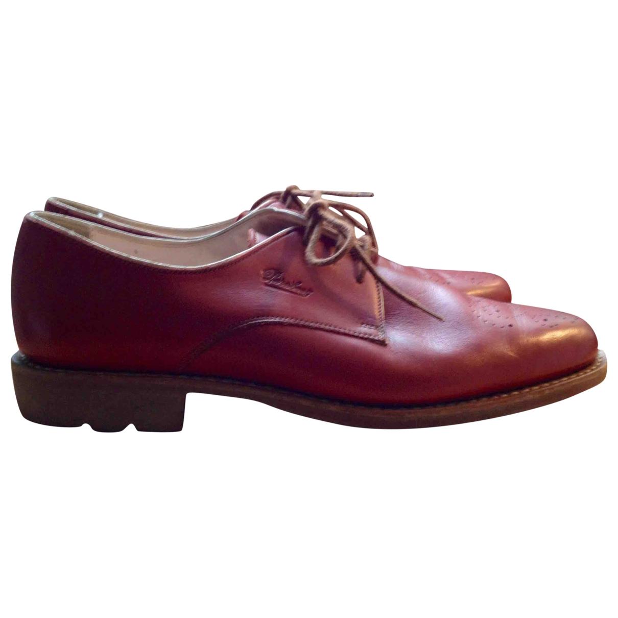 Paraboot \N Burgundy Leather Heels for Women 4 UK