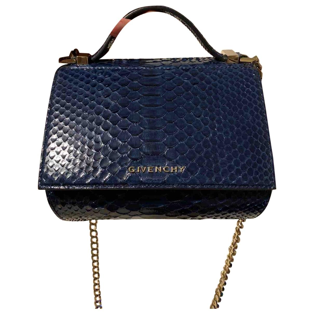 Givenchy Pandora Box Handtasche in  Blau Python