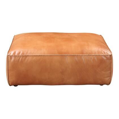 Luxe Collection QN-1020-40 Ottoman with Feather & Fiber-Fill Topper Foam in Brown