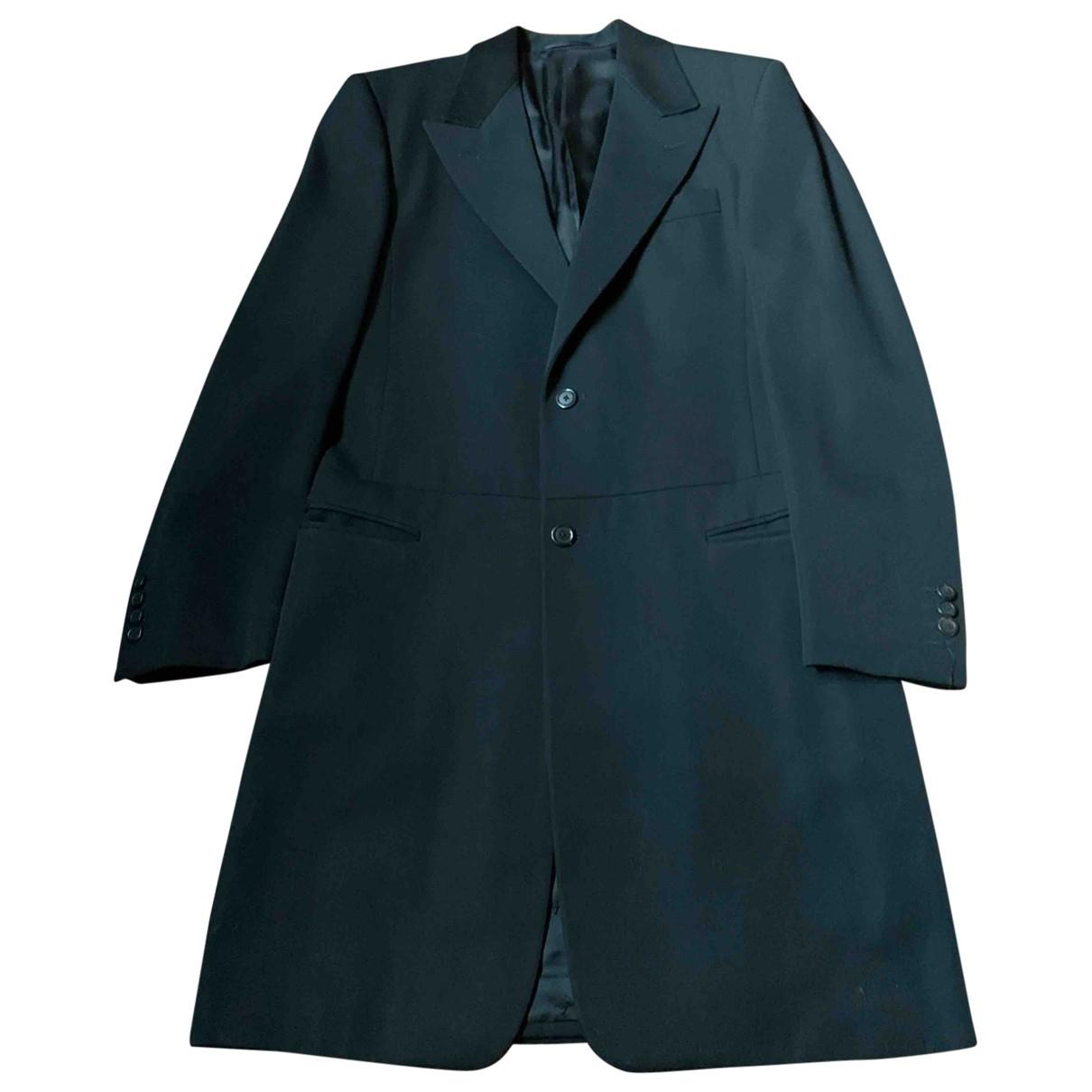 Louis Vuitton \N Maentel in  Schwarz Wolle