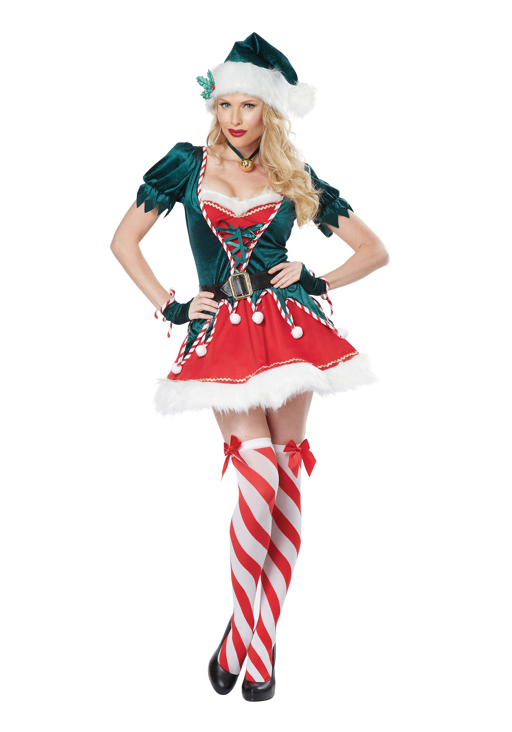Adult Santa's Helper Costume for Women