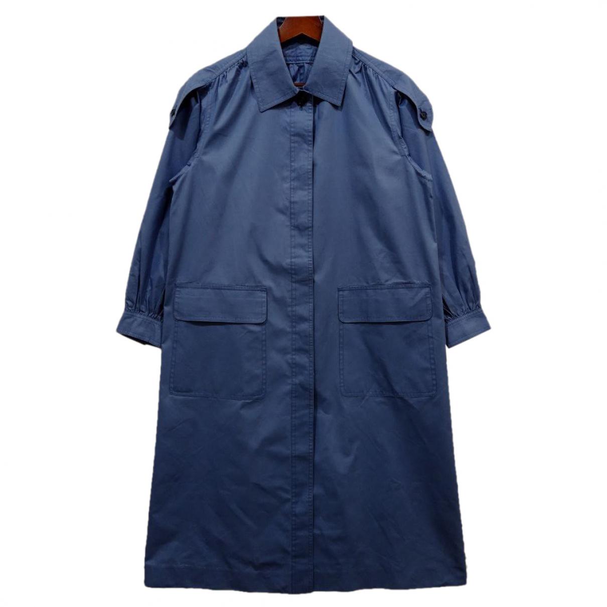 Yves Saint Laurent \N Blue Cotton coat for Women M International