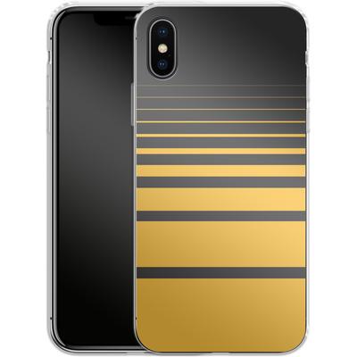 Apple iPhone X Silikon Handyhuelle - Yellow Retro von SONY