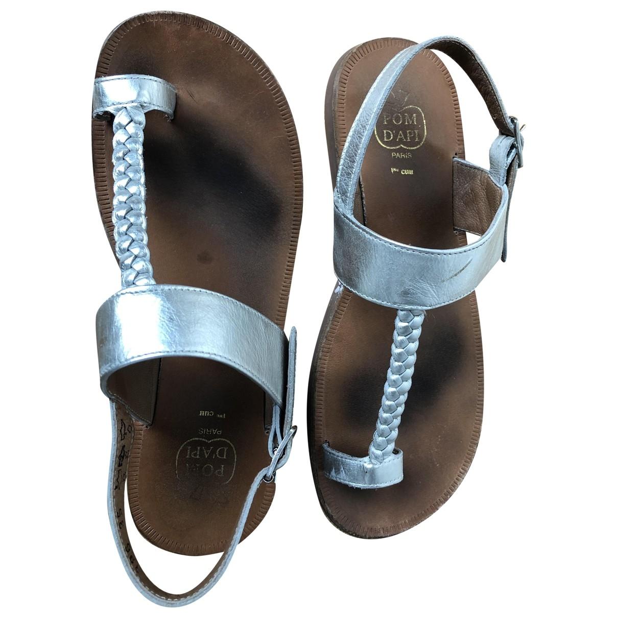 Pom Dapi - Sandales   pour enfant en cuir - argente