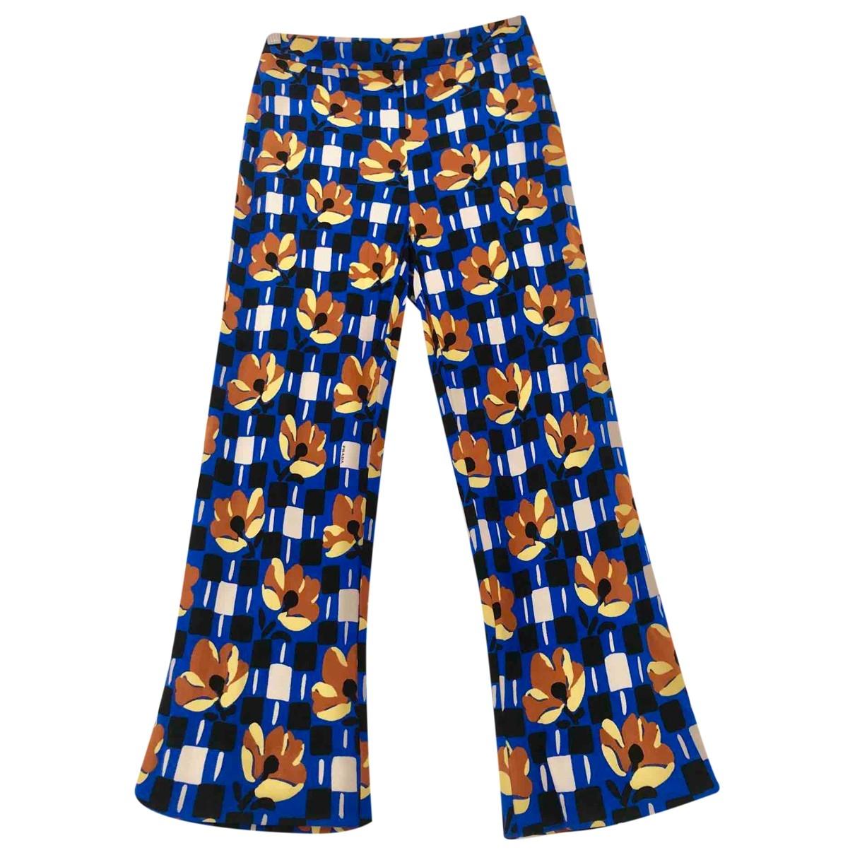 Prada \N Blue Trousers for Women 38 IT