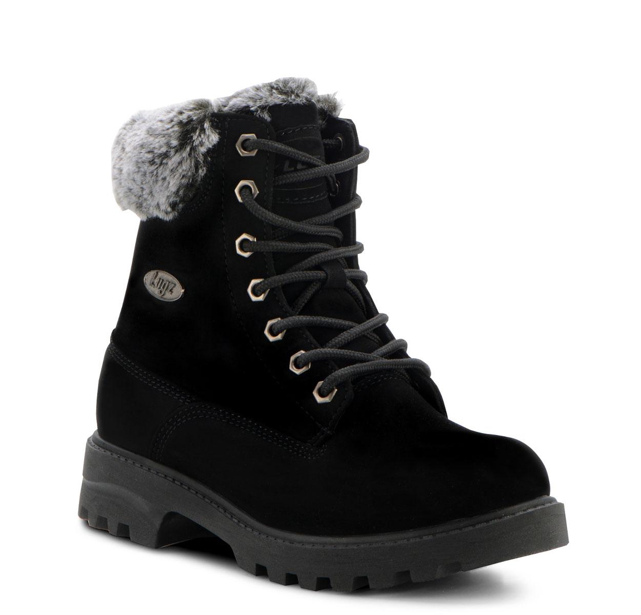 Women's Empire Hi Fur 6-Inch Boot (Choose Your Color: BLACK/BLACK-CHARCOAL, Choose Your Size: 5.5)