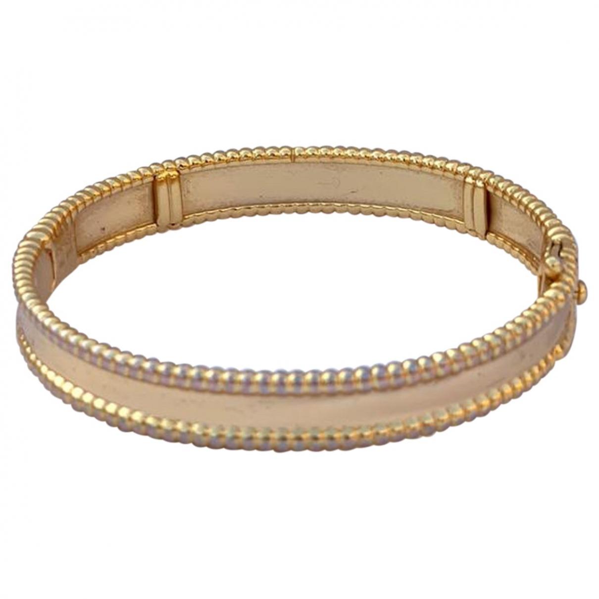 Van Cleef & Arpels - Bracelet Perlee  pour femme en or jaune - jaune