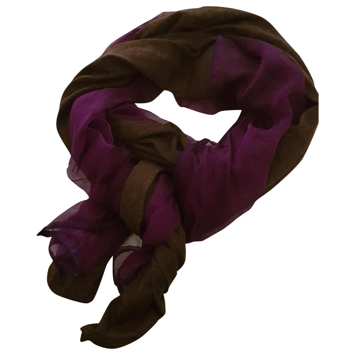 Hermes - Foulard   pour femme en cachemire - violet