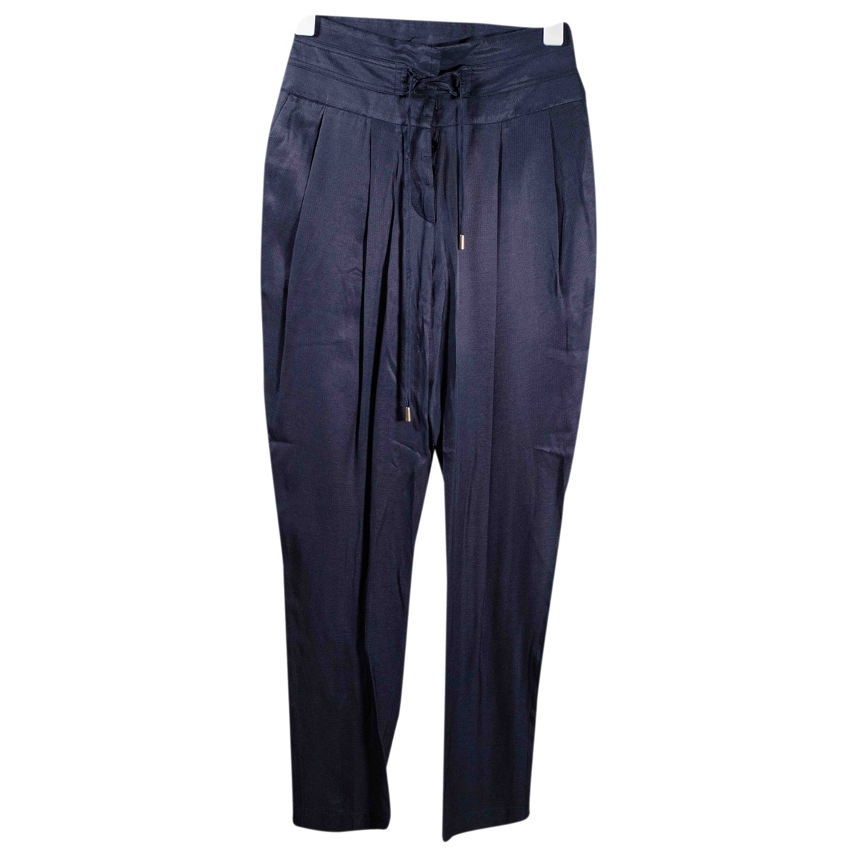 Patrizia Pepe \N Navy Trousers for Women 38 FR