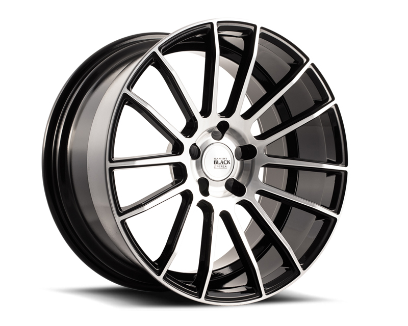 Savini BM09-19095545M4060 di Forza Machined Black with Black Lip BM9 Wheel 19x9.5 5x114.3 40mm