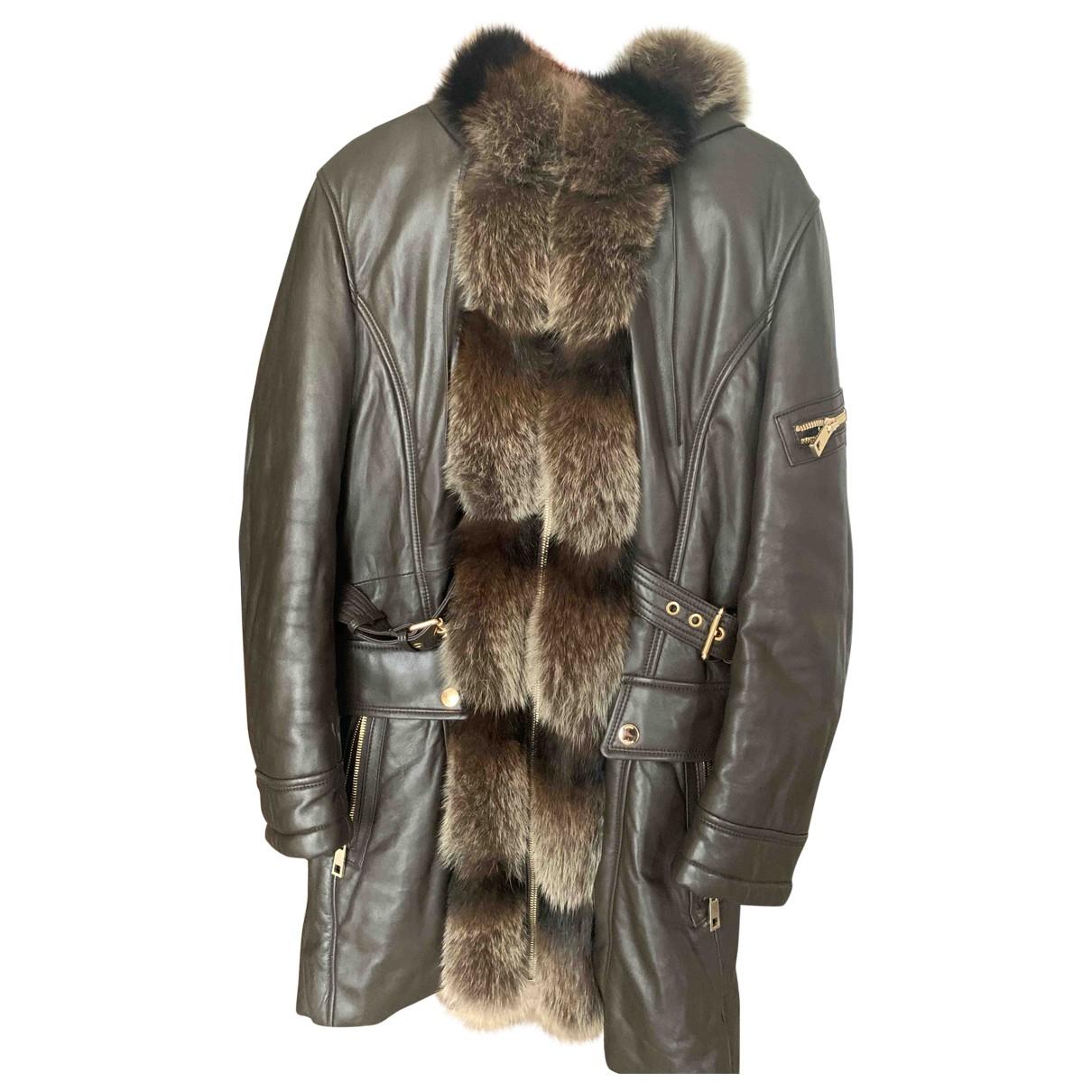 Giorgio & Mario - Manteau   pour femme en cuir - marron