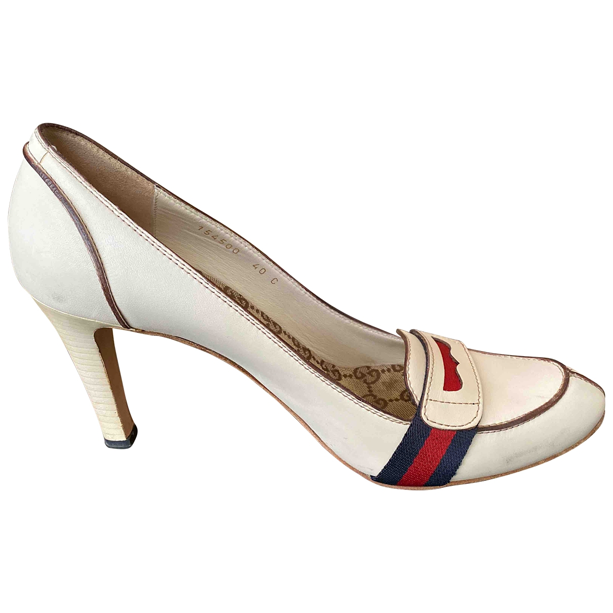 Gucci \N White Leather Heels for Women 40 IT