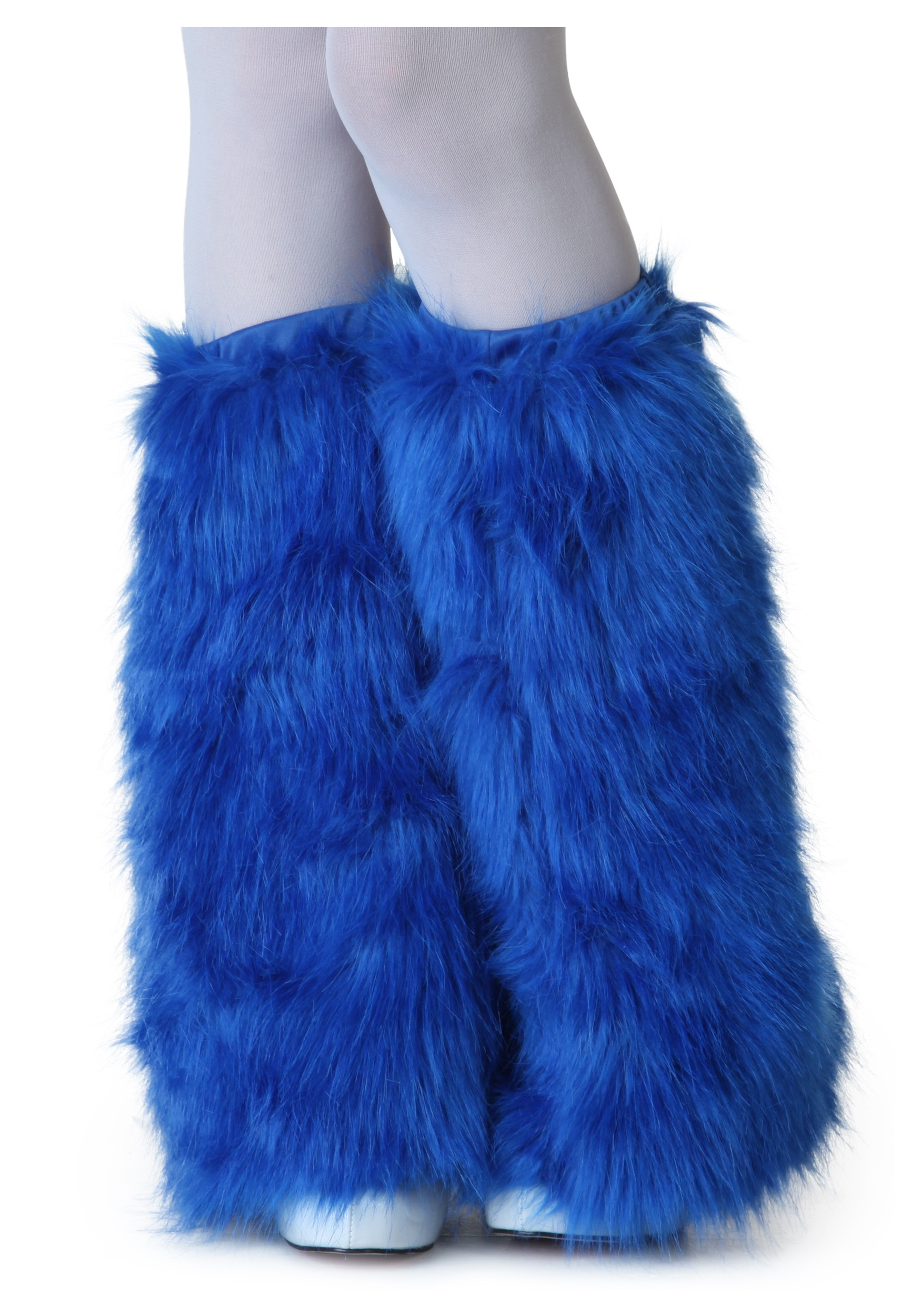 Adult Royal Blue Furry Boot Covers