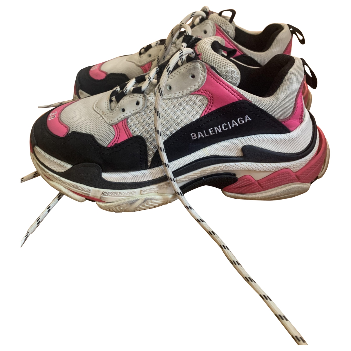 Balenciaga Triple S Pink Rubber Trainers for Women 38 EU