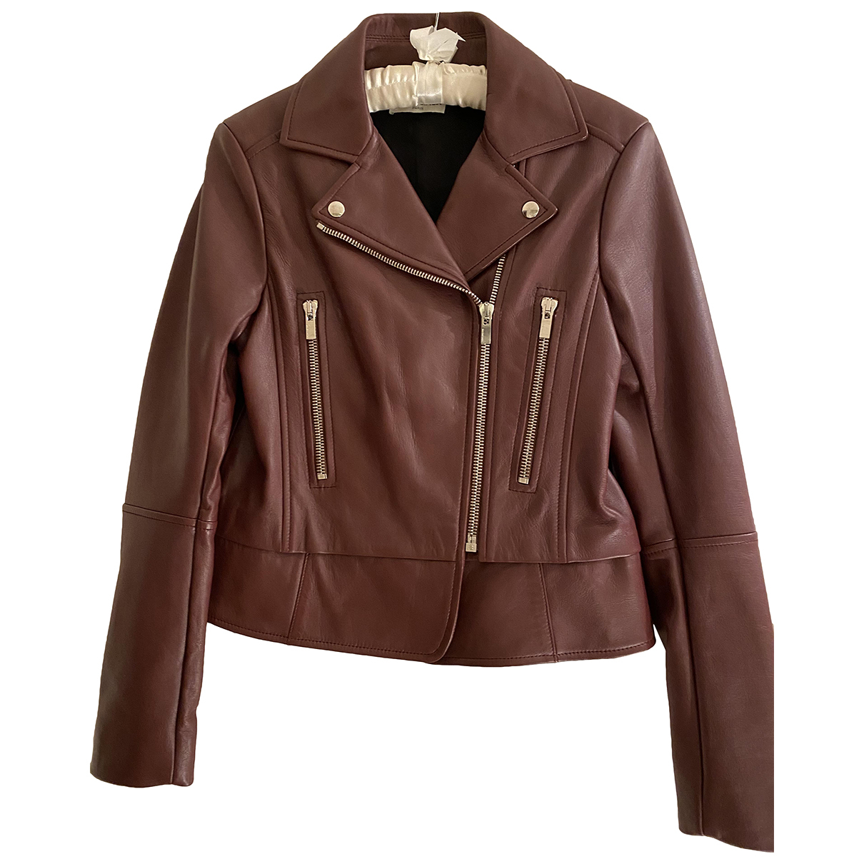 Balenciaga N Burgundy Leather jacket for Women 42 FR