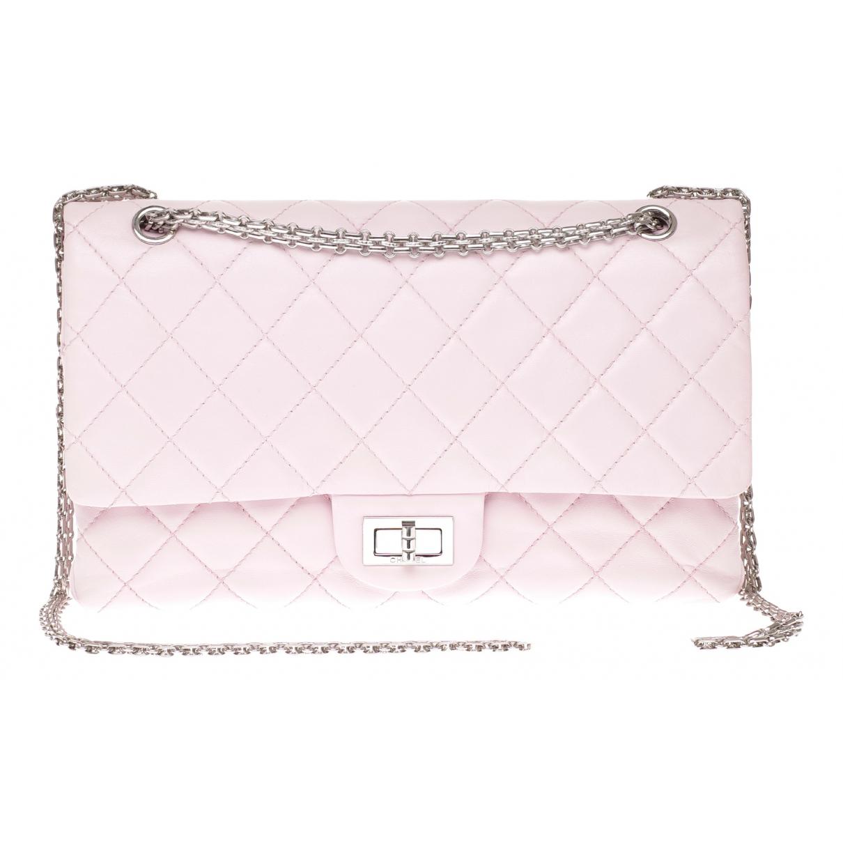 Chanel - Sac a main 2.55 pour femme en cuir - rose