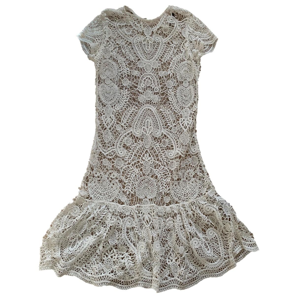 Ralph Lauren Collection \N Kleid in  Ecru Baumwolle