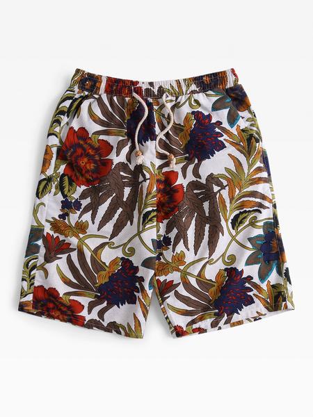 Yoins Summer Quick Dry Comfortable Elastic Men's Beach Middle Shorts
