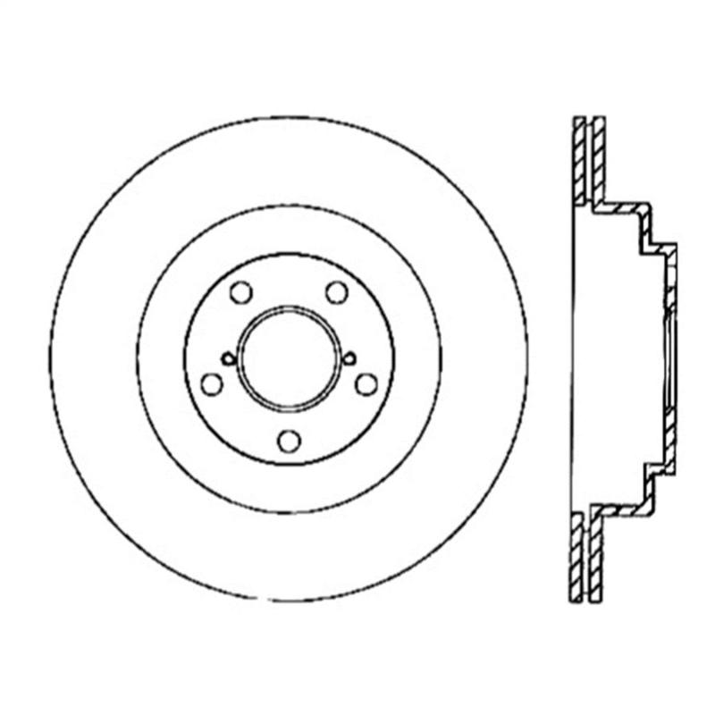 StopTech 126.47025SL Sport Slotted Brake Rotor; Rear Left Subaru Rear Left