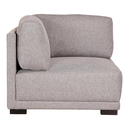 Romeo Collection RN-1114-29 Corner Chair with Solid Pine Frame in Gray