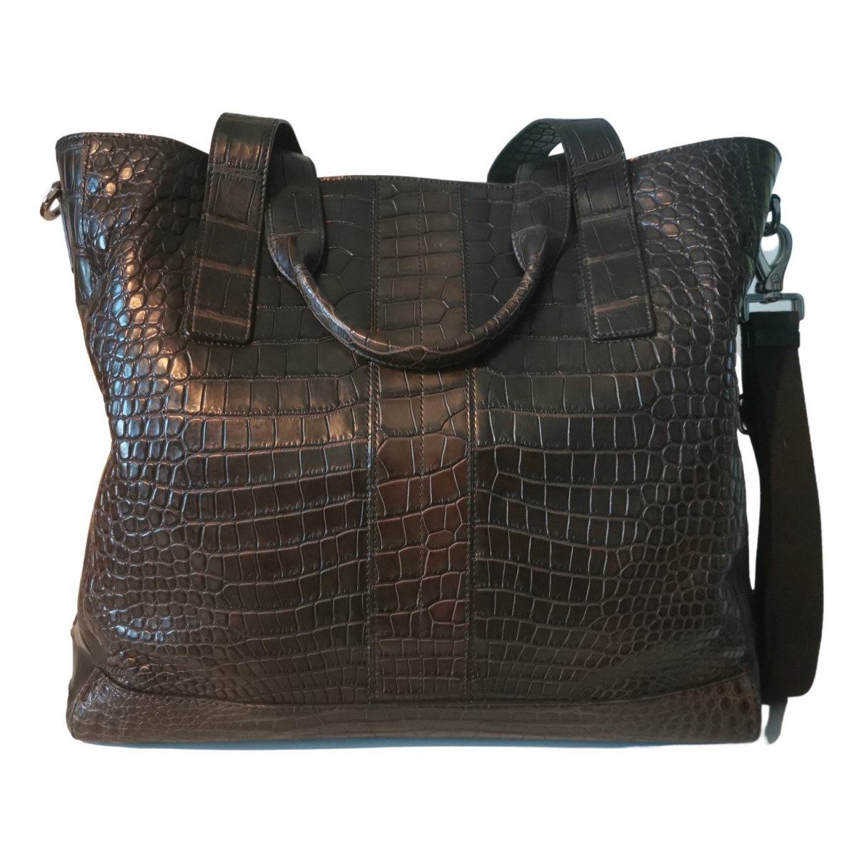 Tod's N Brown Crocodile bag for Men N