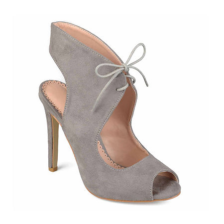 Journee Collection Womens Indigo Pumps Stiletto Heel, 8 Medium, Gray