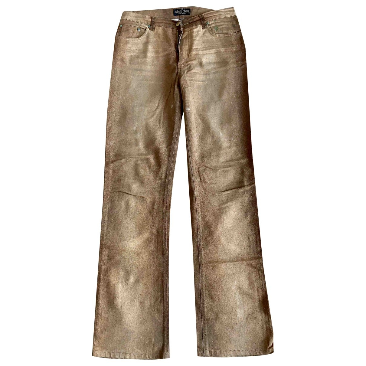 Roberto Cavalli \N Gold Denim - Jeans Trousers for Women XS International