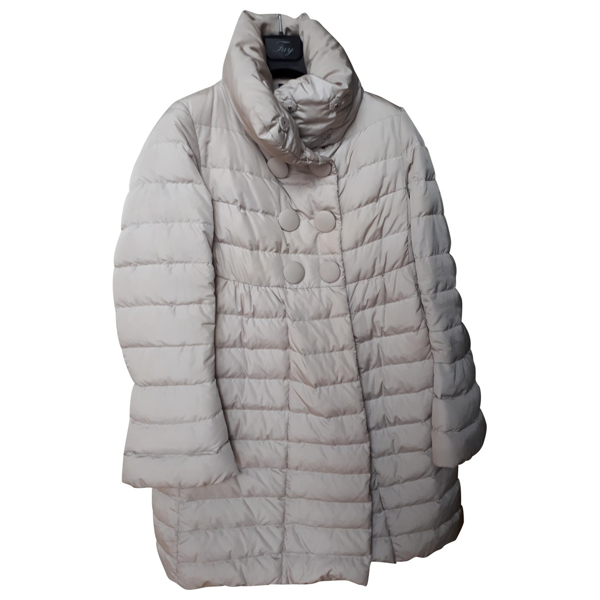 Moncler Long Grey coat for Women 42 FR
