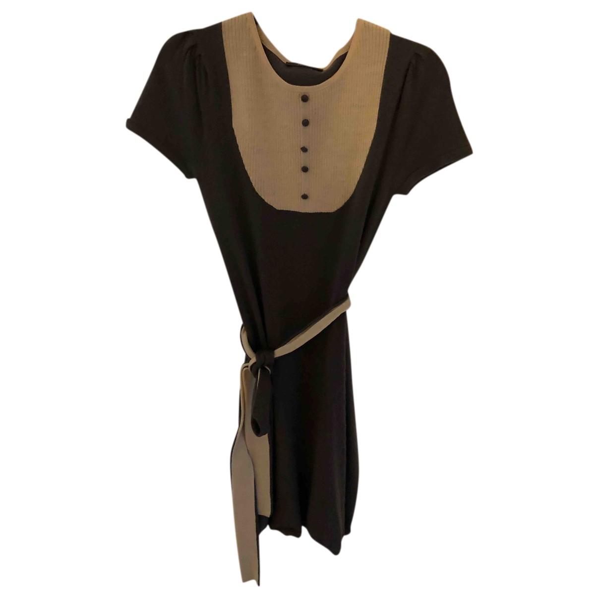 Bel Air - Robe   pour femme en laine - marron