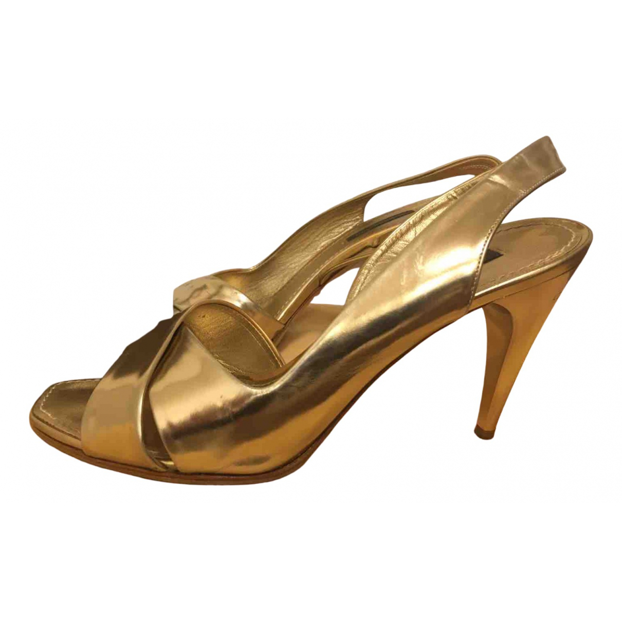 Louis Vuitton \N Sandalen in  Gold Leder