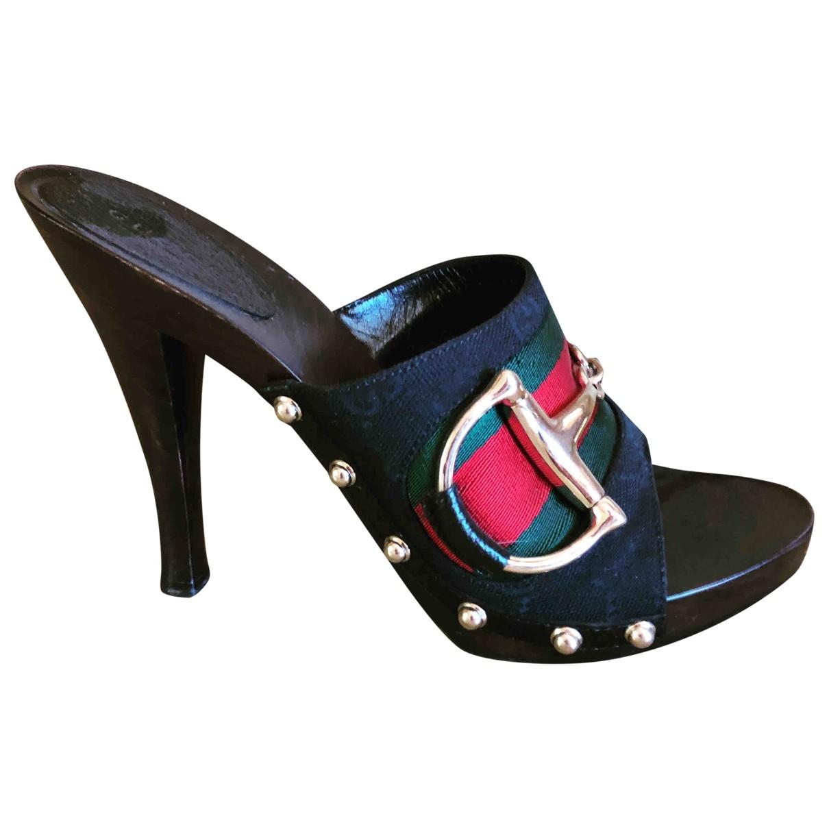 Gucci - Sabots   pour femme en toile - noir
