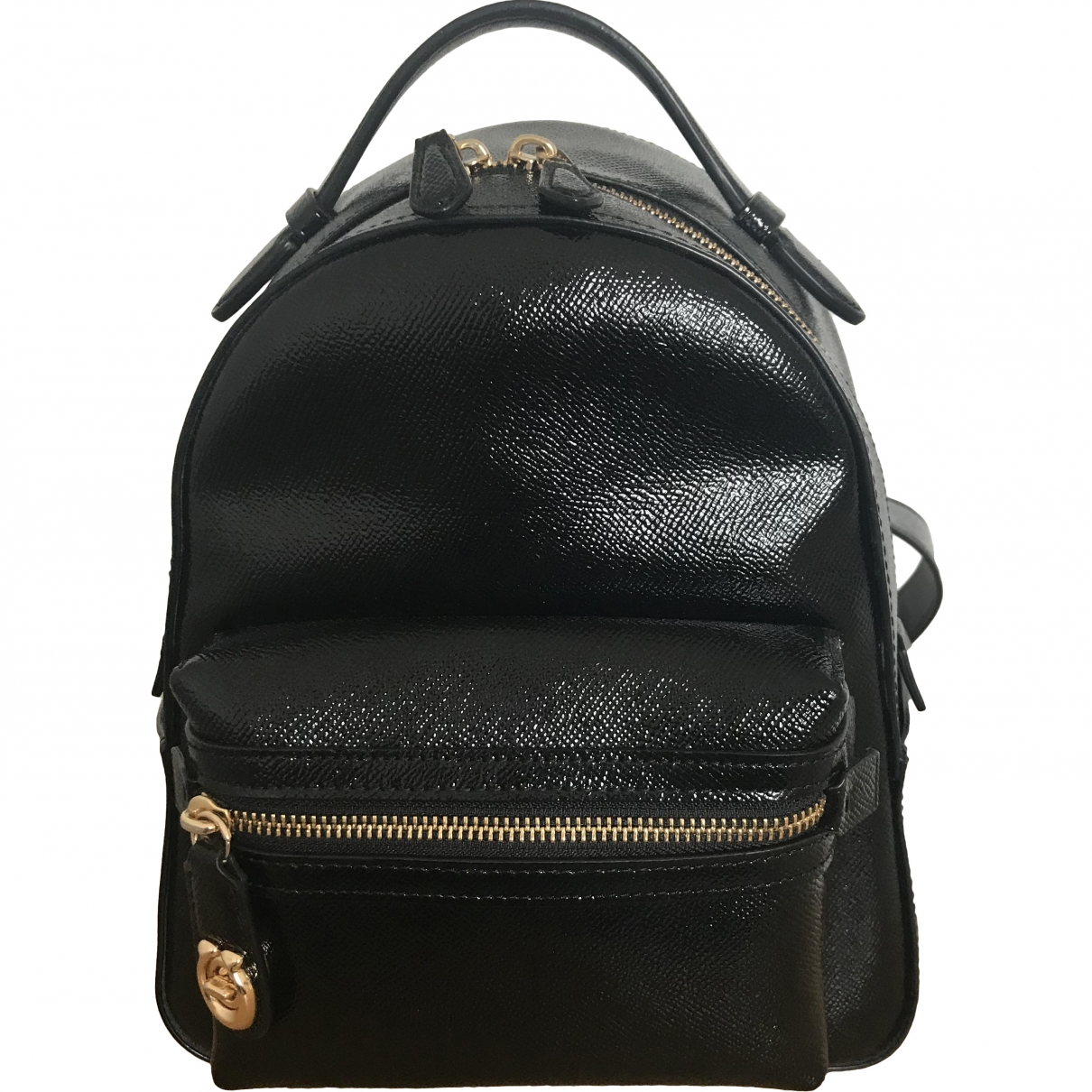 Coach Campus Black Patent leather backpack for Women \N