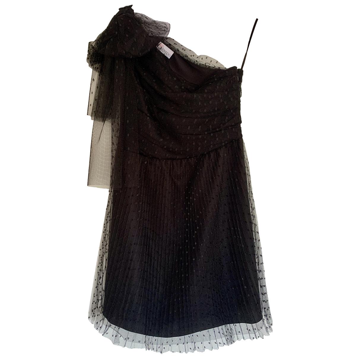 Red Valentino Garavani \N Kleid in  Schwarz Seide