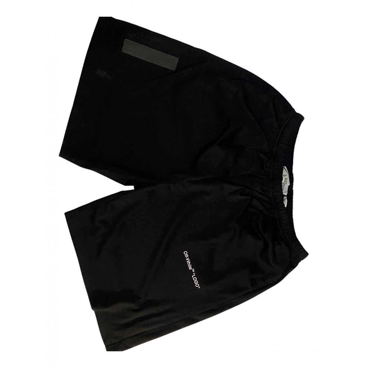 Off-white \N Shorts in  Schwarz Polyester