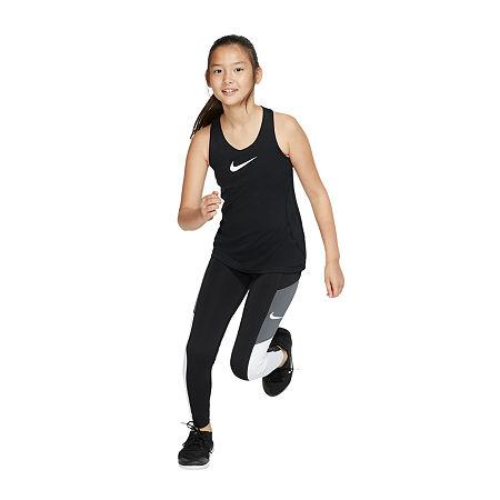 Nike Big Girls Plus Legging, X-large Plus , Black