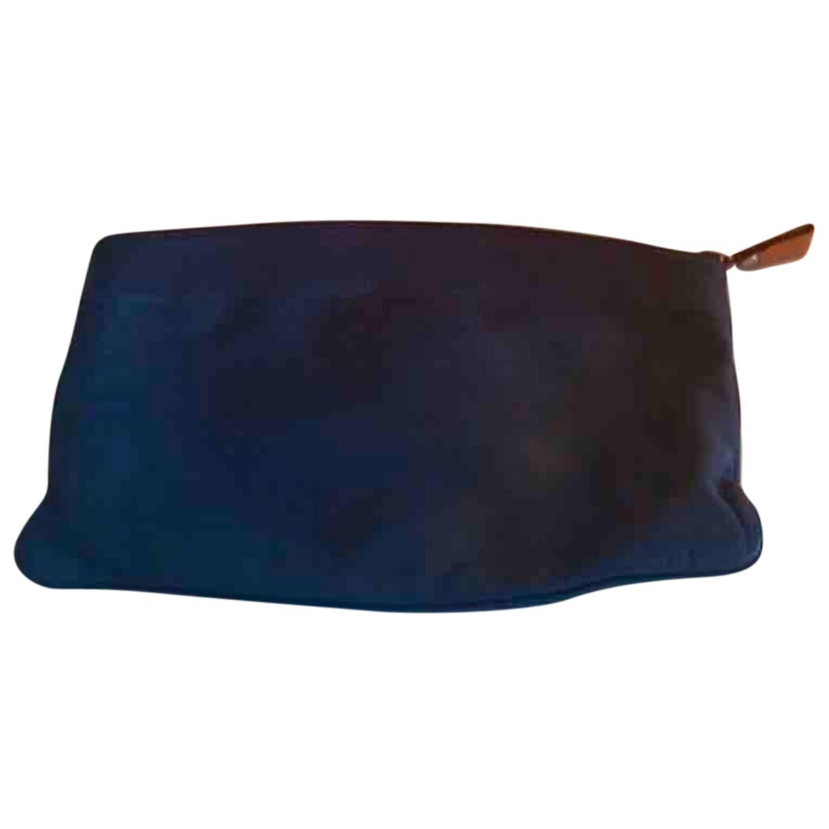 Hermes \N Clutch in  Blau Leder