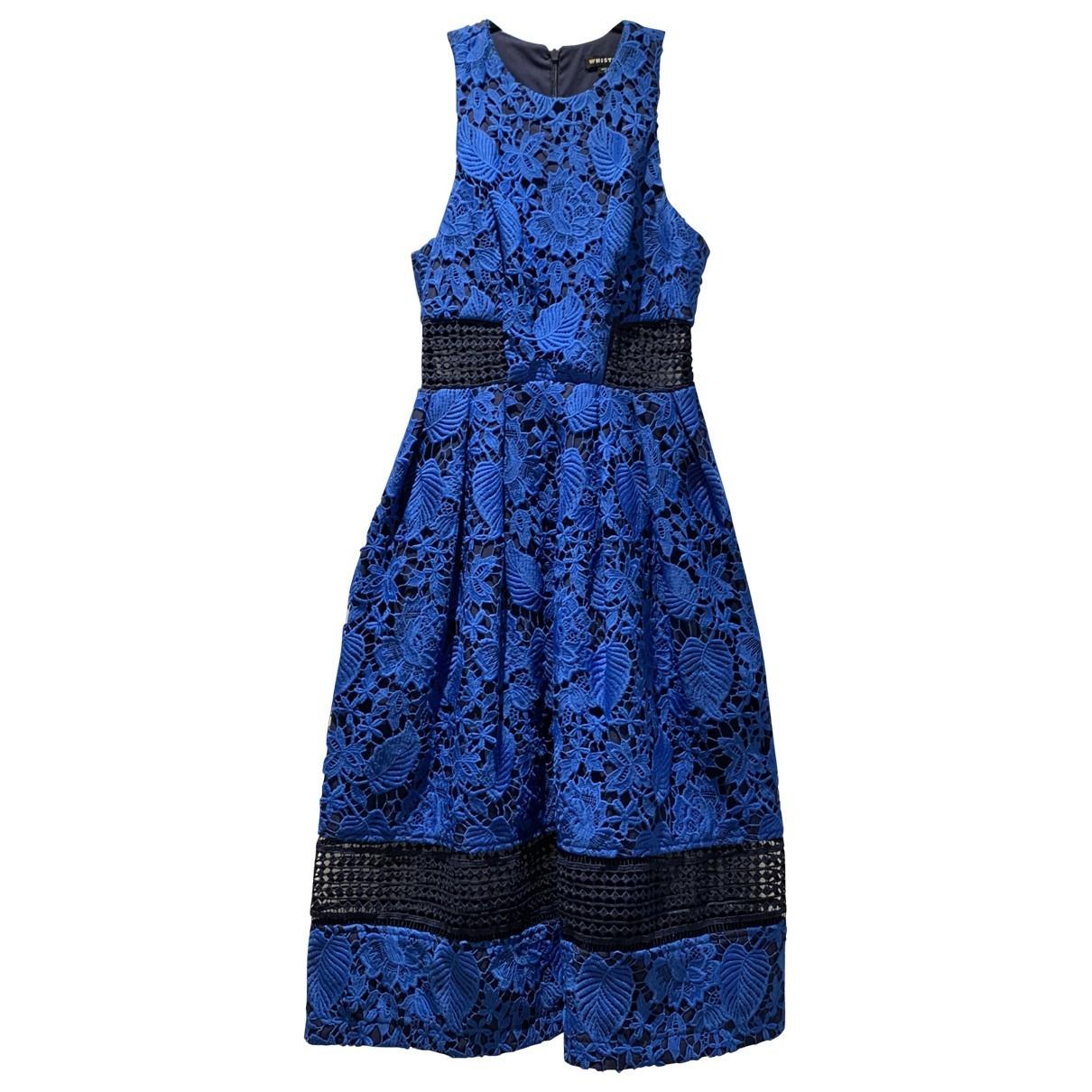 Whistles \N Kleid in  Blau Spitze