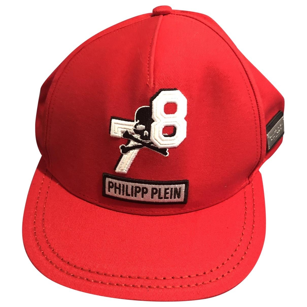 Philipp Plein \N Hut, Muetzen in  Rot Baumwolle