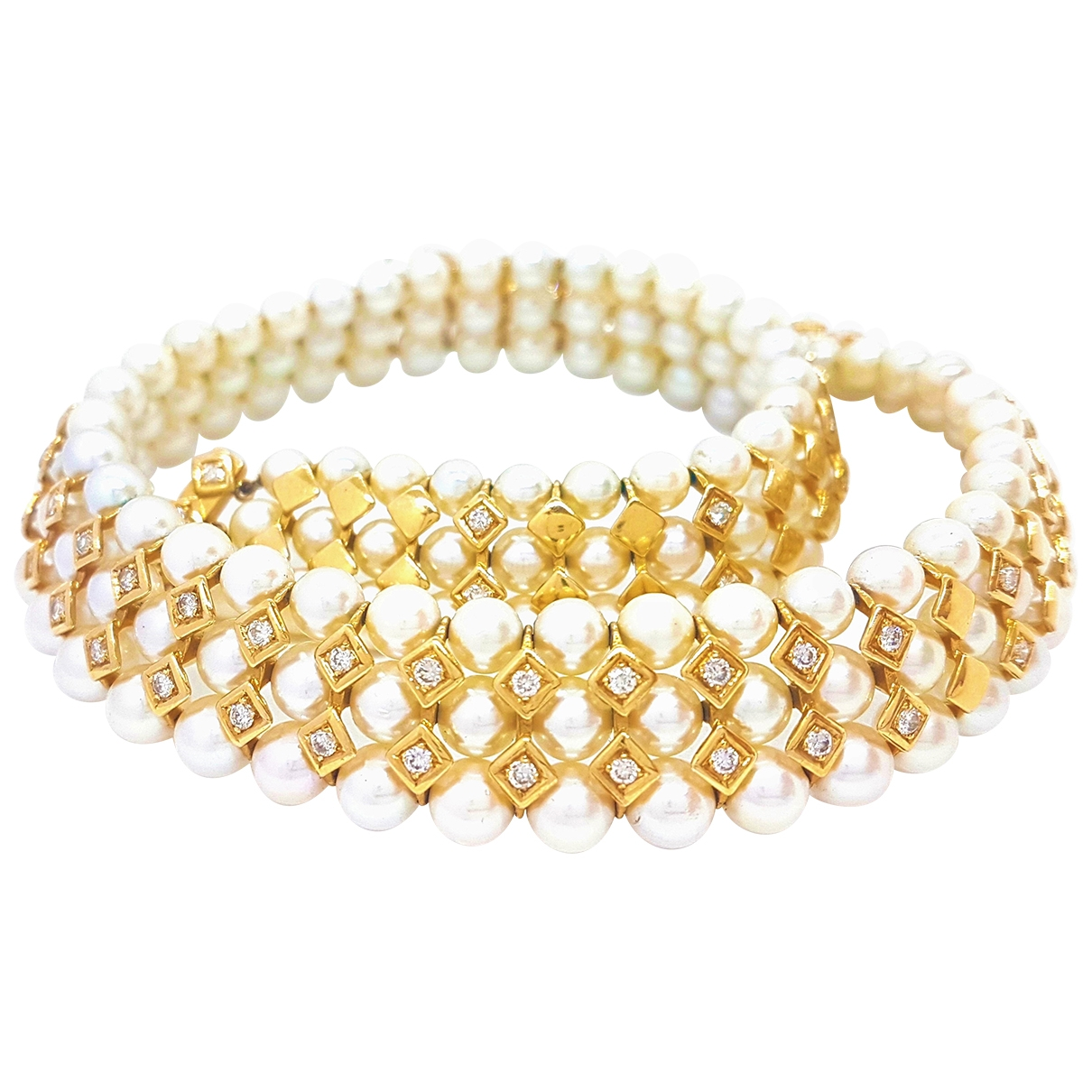 - Collier   pour femme en or jaune - dore