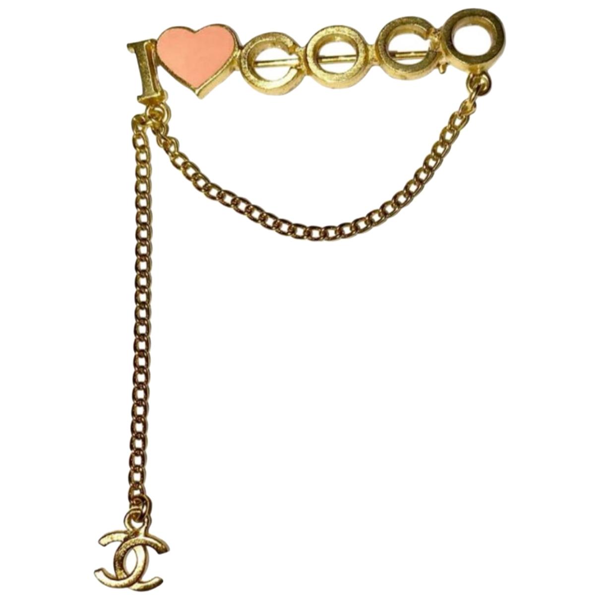Chanel - Broche Coco Crush pour femme en metal - rose