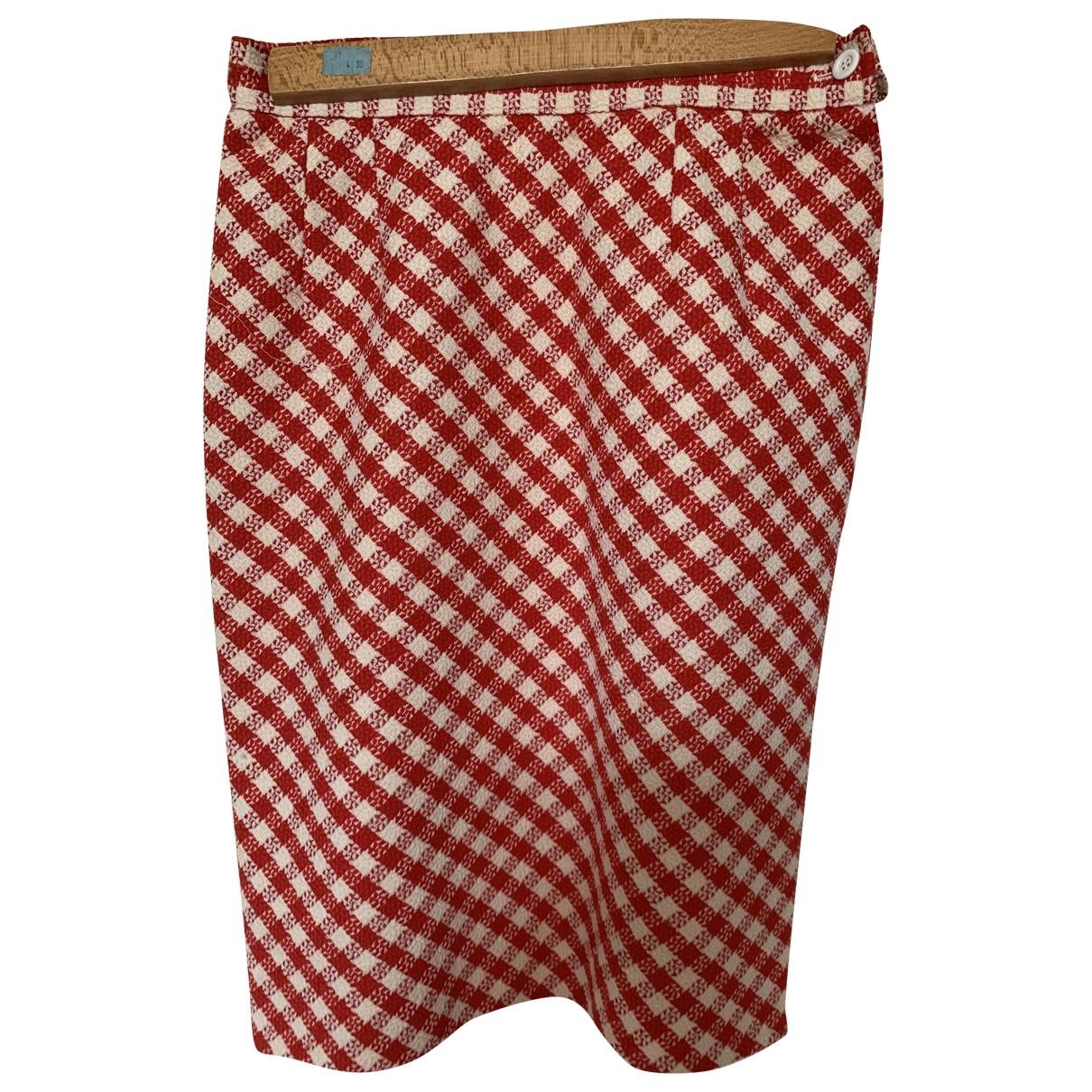 Ungaro Parallele - Jupe   pour femme en coton - rouge