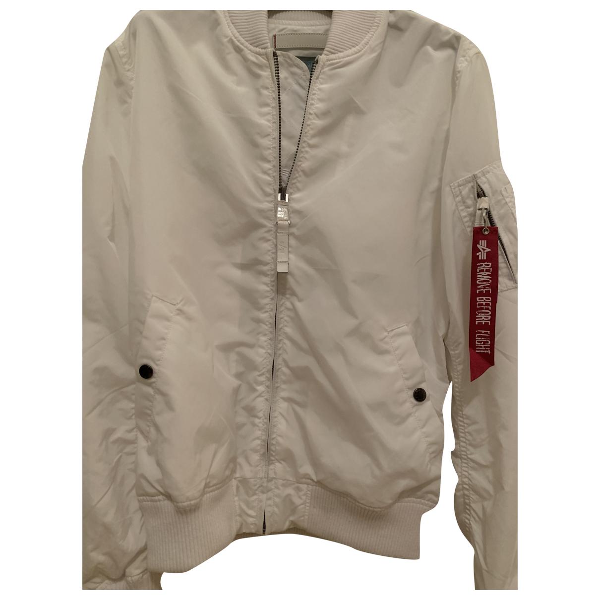 Alpha Industries N White Cotton jacket  for Men XL International