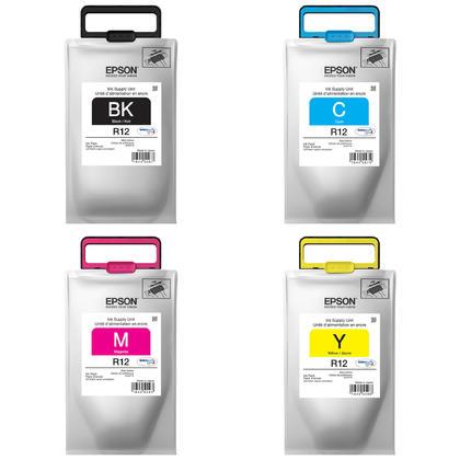 Epson R12 TR12 pack d'encre Durabrite Ultra originale combo BK/C/M/Y