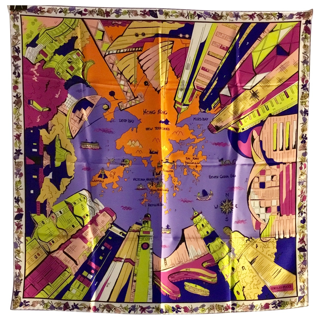 Emilio Pucci \N Multicolour Silk Silk handkerchief for Women \N
