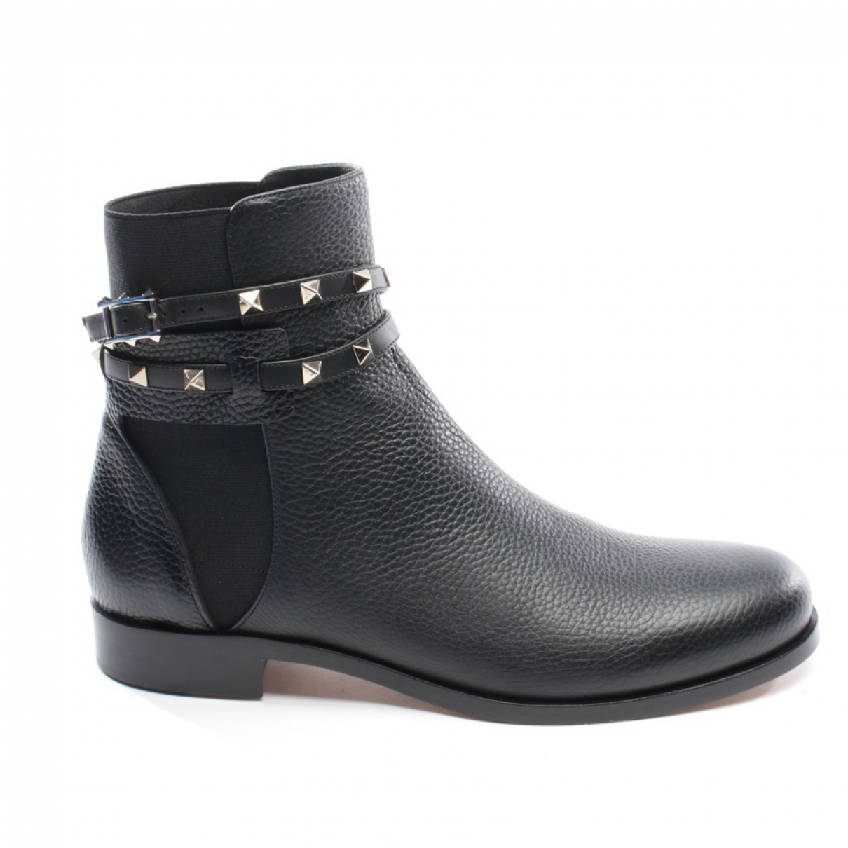 Valentino Garavani \N Black Leather Ankle boots for Women 41.5 EU