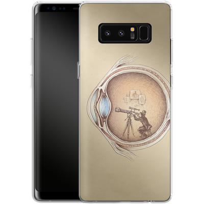 Samsung Galaxy Note 8 Silikon Handyhuelle - Extraordinary Observer von Enkel Dika