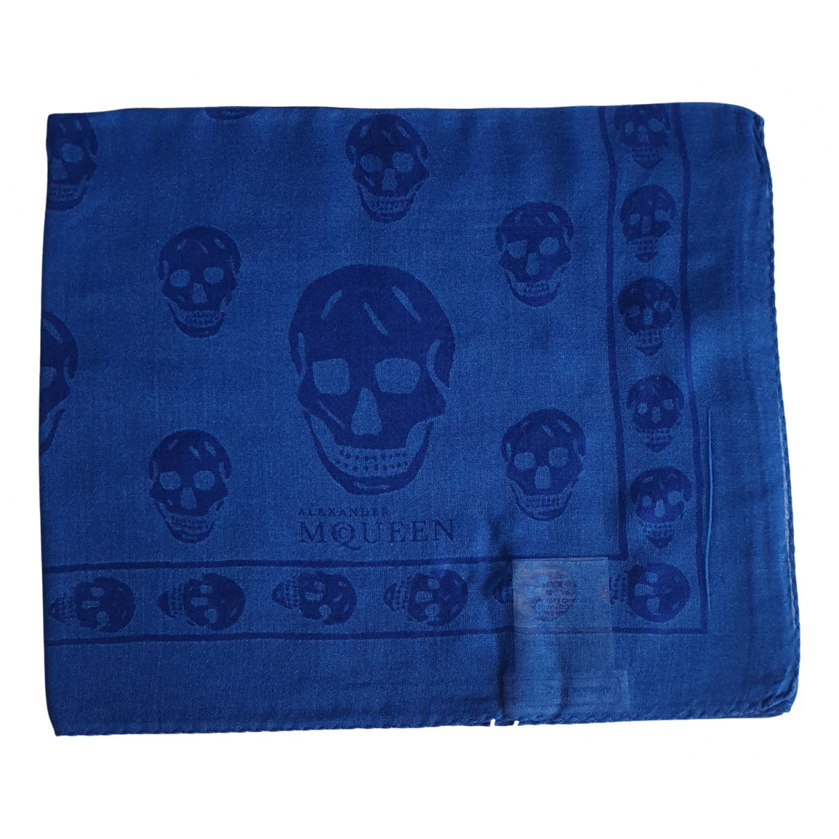 Alexander Mcqueen \N Blue scarf for Women \N