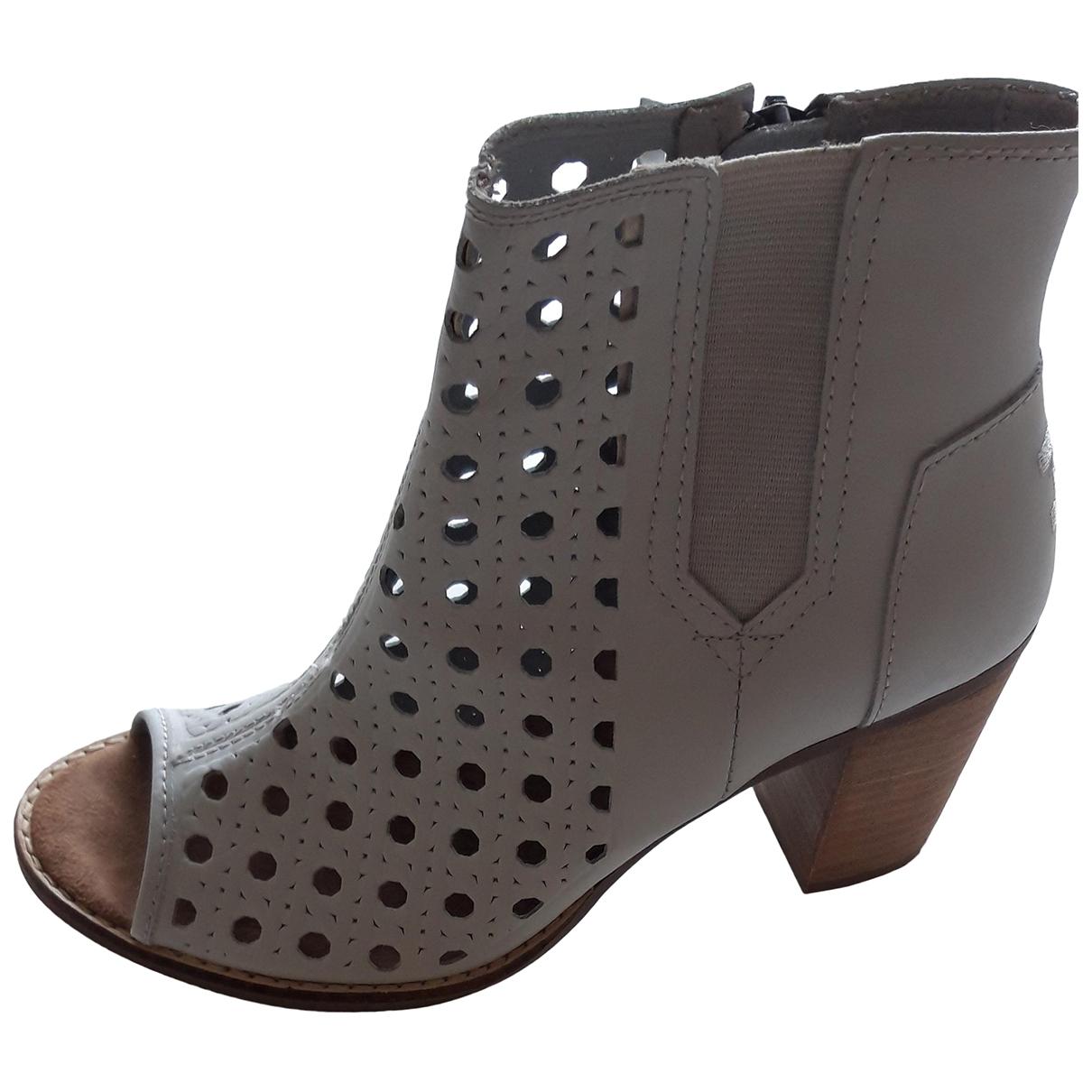 Toms - Boots   pour femme en cuir - gris