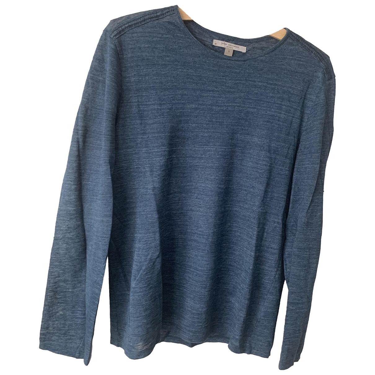 John Varvatos \N T-Shirts in  Blau Leinen