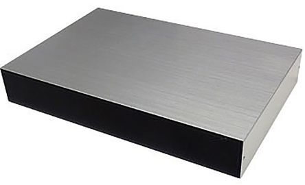 Takachi Electric Industrial YM, Black & Silver Aluminium Project Box, 65 x 50 x 20mm